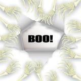 Vector Halloween-Hintergrund mit dem skeleton Arm für förderndes, p Stockfoto