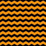Vector Halloween-Hintergrund Nahtloses Muster gemacht von den gekrümmten Linien in den traditionellen Farben des Feiertags Lizenzfreie Stockbilder