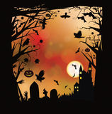Vector Halloween horror background. Royalty Free Stock Image