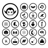 Vector halloween icon set Stock Image