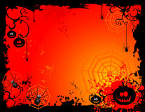 Vector Halloween illustratie Stock Afbeeldingen