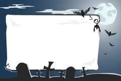 Vector Halloween illustration of cemetery Royalty Free Stock Photography