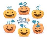 Vector halloween illustration of collection decorative orange  Stock Photography