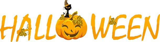 Vector Halloween inscription on a white background Royalty Free Stock Image