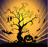 Vector halloween landscape Stock Photos