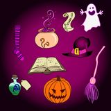 Vector Halloween Objects Set Royalty Free Stock Images