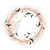 Vector Halloween orange wreath Stock Images