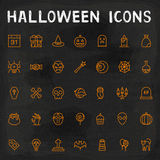 Vector Halloween Outline Icons Royalty Free Stock Images