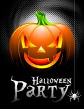 Vector Halloween Party Background with Pumpkin. Stock Photo