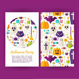 Vector Halloween Party Banners Set Template Royalty Free Stock Images
