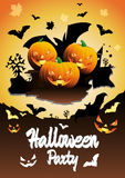 Vector Halloween Party illustration Stock Photos
