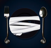 Vector of Halloween Party Mummy Plate Stock Image
