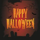 Vector Halloween poster. Card,banner Stock Images