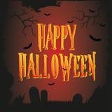 Vector Halloween poster Stock Images