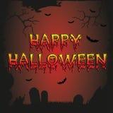 Vector Halloween poster. Card,banner Stock Photos