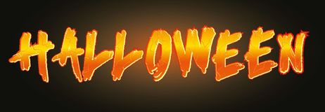 Vector Halloween banner Royalty Free Stock Photography