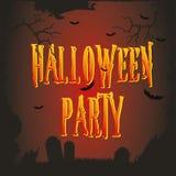 Vector Halloween poster Stock Photography