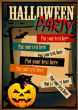Vector Halloween Poster with a cat Royalty Free Stock Photos