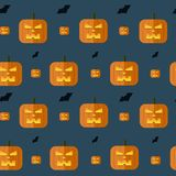 Vector halloween pumpkin background Royalty Free Stock Photos
