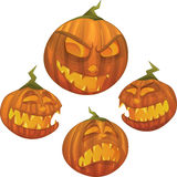 Vector Halloween pumpkin character Stock Photo