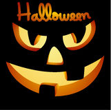 Vector halloween pumpkin face Royalty Free Stock Photo