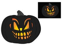 Halloween pumpkin with face Royalty Free Stock Photography