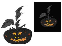 Halloween pumpkin with face Stock Images