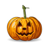 Vector Halloween pumpkin face  Royalty Free Stock Photos
