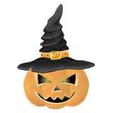 Vector. Halloween pumpkin. Vector. Halloween pumpkin isolated on white Royalty Free Stock Photos