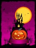 Vector halloween pumpkin with ribbon Royalty Free Stock Photos