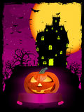 Vector halloween pumpkin with ribbon Stock Photos