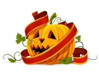 Vector halloween pumpkin vegetable fruit isolated Stock Image
