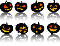 Vector halloween pumpkins Royalty Free Stock Image