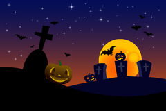 Vector halloween pumpkins design Stock Image