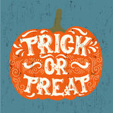 Vector halloween quote typographical background made in hand drawn style. Stock Photography