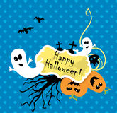 Vector Halloween scrapbooking card Royalty Free Stock Photo