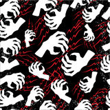 Vector Halloween seamless background. With scary arm Royalty Free Stock Photos