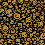 Vector Halloween Seamless Background Royalty Free Stock Image