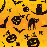 Vector Halloween seamless pattern Stock Photos