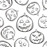 Vector. Halloween Seammless Black Background Stock Image
