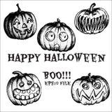 Vector Halloween set Royalty Free Stock Image