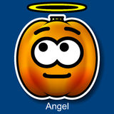 Vector Halloween Smiley Angel. On Background Royalty Free Stock Photography