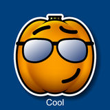 Vector Halloween Smiley Cool. On Background Royalty Free Stock Image