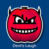 Vector Halloween Smiley Devil's Laugh. On Background Royalty Free Stock Images