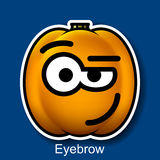 Vector Halloween Smiley Eyebrow Stock Photography