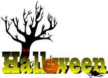 Vector Halloween subtitles Royalty Free Stock Photo