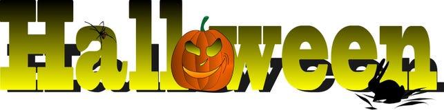 Vector Halloween subtitles Stock Photos