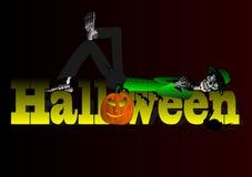 Vector Halloween subtitles with darken Background Royalty Free Stock Photos