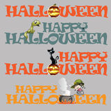 Vector Halloween template Stock Images