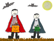 Vector Halloween vampires Royalty Free Stock Images